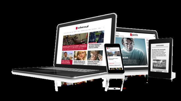 Prenumerata cyfrowa Gazety Wyborczej jest dostępna na smartfonie, tablecie oraz komputerze.
